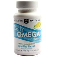 Daily Omega com Vitamina D3  Nordic Naturals 30 cápsulas