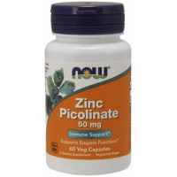 Picolinato de Zinco 50 Mg 60 Cáps Now Foods