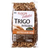 Flocos de trigo integral tostados